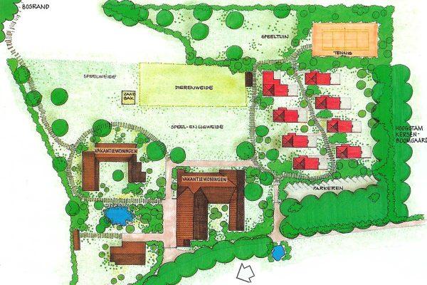 plattegrond bungalowpark landsrade